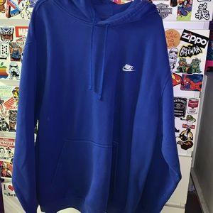OVERSIZEDDD blue nike hoodie